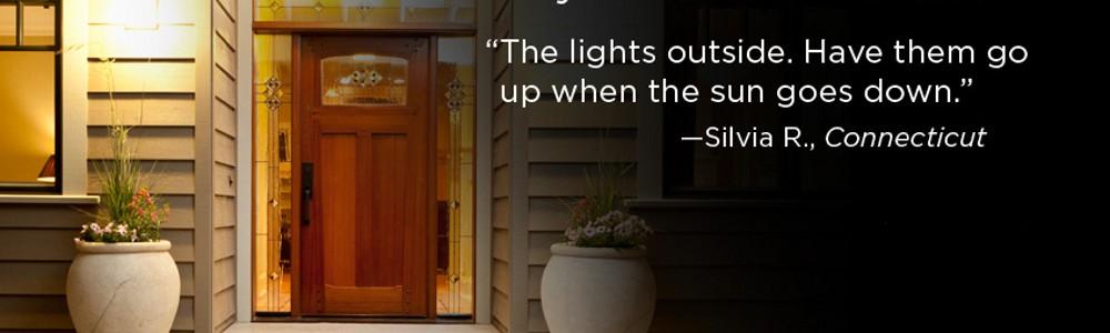 Управление внешним освещением дома