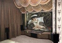 Домашний кинотеатр в маленькой комнате. миниатюра