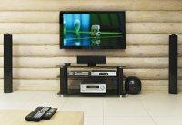 Аудио-видео система в бревенчатом доме. миниатюра