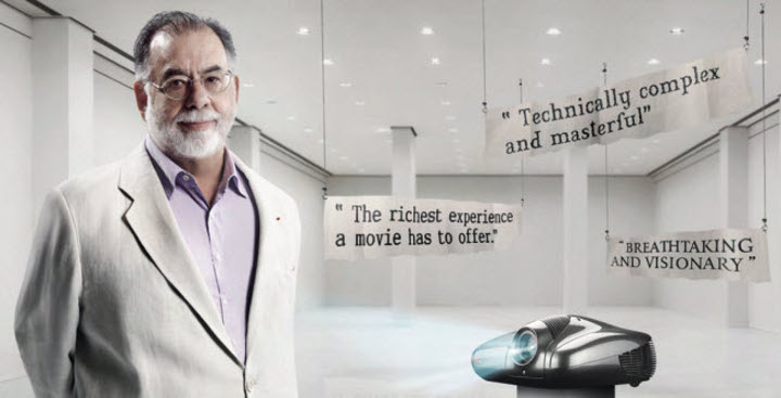 Фрэнсис Форд Коппола (Francis Ford Coppola) и проектор SIM2 Multimedia