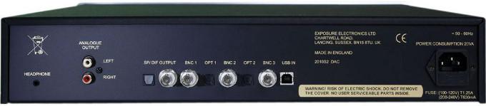 Задняя панель Exposure 2010S2 цифро-аналоговый преобразователь