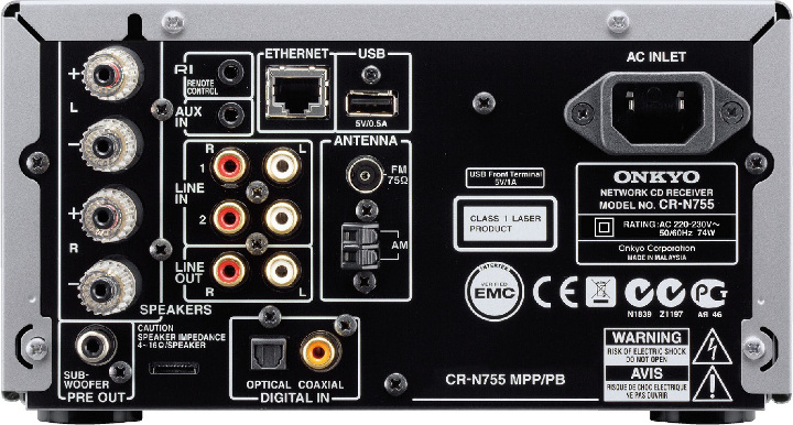 CS-N755 задняя панель Onkyo