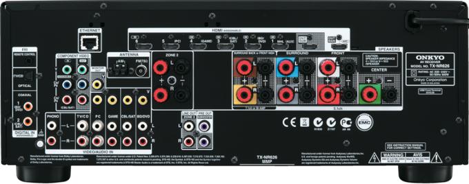 Onkyo TX-NR626 black задняя панель