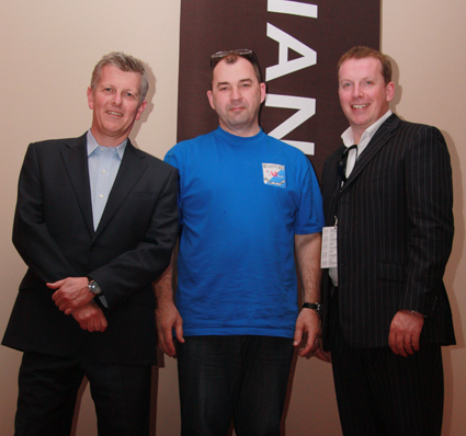 Грэм Тейлор (Graeme Taylor) и Джон Бучанан (John Buchanan) компании Meridian Audio Генеральный директор компании Media House - Валерий Хусаинов