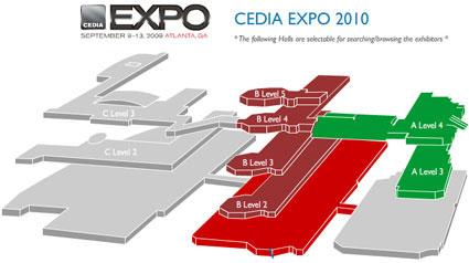План выставки CEDIA 2010. Атланта