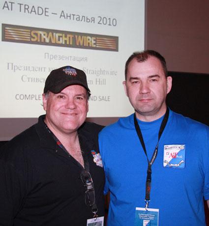 Президент компании Straight Wire - Стивен Хилл (Steven Hill) и  Генеральный директор компании Media House - Валерий Хусаинов